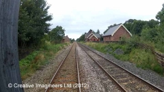 280180: Long Marton Station - Passenger Platform (Up): Cab-view video still