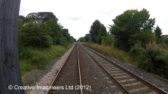 283330: New Biggin Station - Passenger Platform (Down): Cab-view video still