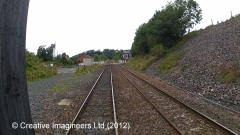 284630: Culgaith Station - Goods Shed: Cab-view video still (northbound)