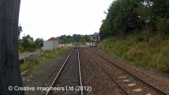284640: Culgaith Station - Yard Office & Weighing Machine: Cab-view video still