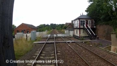 284660: Culgaith Station -Unlabelled Building: Cab-view video still (northbound)