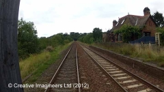 284710: Culgaith Station - Main Building & Booking Office (Up): Cab-view video