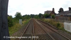 284730: Culgaith Station - Passenger Platform (Down): Cab-view video still