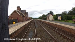 288280: Langwathby Station - Main Building: Cab-view video-still (northbound)