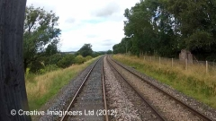 289880: Platelayers' Hut: Cab-view video-still (northbound)