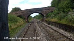 290660: Bridge SAC/300 - Throstle Hall: Cab-view video-still (northbound)