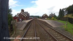 292535: Lazonby & Kirkoswald Station - Barrow Crossing: Cab-view video still