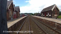 292550: Lazonby & Kirkoswald Station - Waiting Room (Up): Cab-view video still