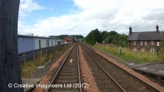 292630:Lazonby & Kirkoswald Station Water Column:Cab-view video-still northbound