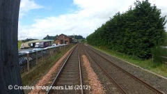 292760: Lazonby & Kirkoswald Station-Lie-by siding:Cab-view video-still (north)