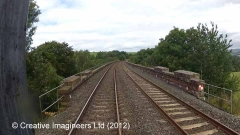 297340: Bridge SAC/320 - Armathwaite Viaduct: Cab-view video-still (northbound)
