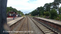 298145: Armathwaite Station Passenger Shelter (down):Cab-view video-still