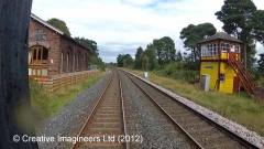 298220: Armathwaite Signal Box (1899-present): Cab-view video-still (northbound)