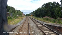 298260: Armathwaite Station - Lie-by siding (Down): Cab-view video-still
