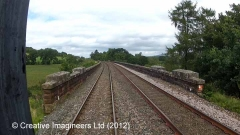 299090: Bridge SAC/326 - Dry Beck Viaduct: Cab-view video-still (northbound)