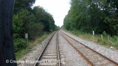 300390: Level Crossing: Cab-view video-still (northbound)