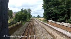 301080: Cotehill - Station Master's House: Cab-view video-still (northbound)