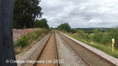 301290: Cotehill Station - Passenger Platform (Up):Cab-view video-still