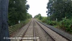 303880: Level Crossing: Cab-view video-still (northbound)