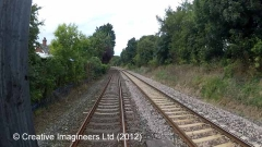 305310: Scotby - Station Master's House : Cab-view video-still (northbound)