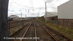 308010: Carlisle Power Box / Signal Box (1973 - present): Cab-view video-still