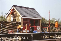 Construction of waiting shelter for new 'Down' platform at Ribblehead Station