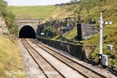 Blea Moor Tunnel South Portal and two platelayers' huts: Context from southwest
