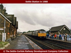 Settle Railway Station: Context view from the north (1980)