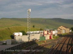 Kirkby Stephen Signal Box: Context view from the north (2)