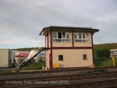 Kirkby Stephen Signal Box: West elevation view