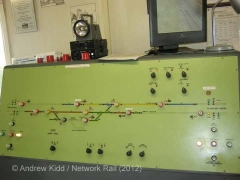 Kirkby Thore Signal Box Interior: Track layout panel (1)