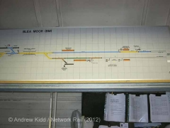 Blea Moor Signal Box Interior: Track layout panel (2)