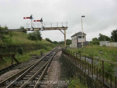 Hellifield South Jn. Signal Box: Context view from the North-west