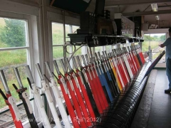 Hellifield South Jn. Signal Box Interior: lever-frame (1)