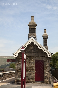 256660:Garsdale Station-Southern building (Up -Island):Elevation view from south