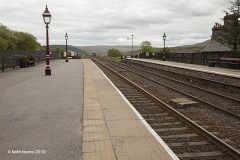 256630: Garsdale Station - Passenger Platform: Context view from the north east