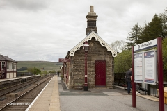 256660:Garsdale Station-Southern bld (Up -Island):Elevation view from south west