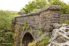 256300: Bridge SAC/113 -Dinsdale: Detail view from the north west