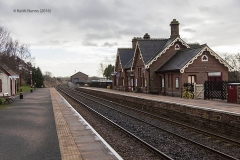 288280: Langwathby Station - Main Building: Context view from the north east