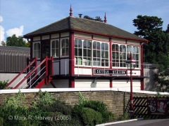 Settle Station Signal Box (current position): North-west elevation