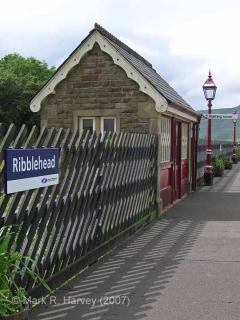 Ribblehead Station New Down Waiting Room: Elevation view from the east