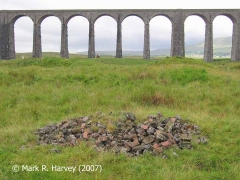 Rejects from the Railway Construction Camp Brickworks with Ribblehead Viaduct beyond.