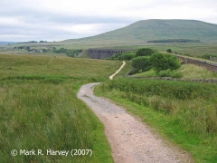 Blea Moor Tramway near Bridge SAC/67: Context view from the north-northwest