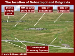 The locations of Sebastopol and Belgravia, viewed from Ribblehead Viaduct