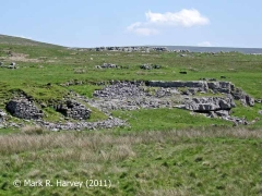 Limekiln and limestone quarry in the Ribblehead Railway Construction Camp area