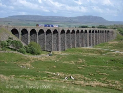 Ribblehead Viaduct: Elevation view from the north-west