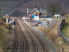 Ribblehead Station Booking Office: Context view from the south-east (v3)
