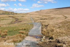 Tramway routes to Force Gill (left) and Blea Moor (right): Context view from SSW