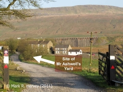 The site of Mr Ashwell's Yard (with Ribblehead Viaduct beyond).