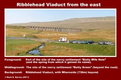 Ribblehead Viaduct and site of Batty Wife Hole and Batty Green navvy settlements
